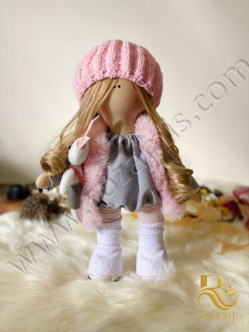 عروسک-کلاه-صورتی