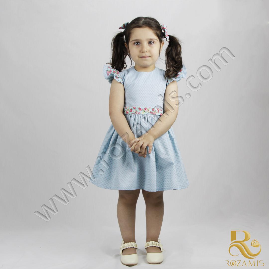 پیراهن دخترانه گلدار GS-871 رزامیس